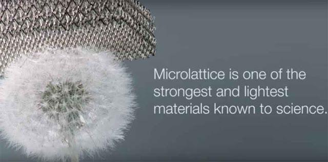 boeing telah membuat logam paling ringan di dunia saat ini, teknologi microlattice merupakan berita besar bagi industri pesawat jet komersial dunia