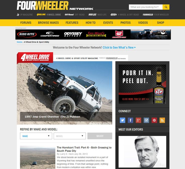 REPIN!!! We'd like to present to you the all-new Four Wheeler Network! SEE IT HERE: http://www.fourwheeler.com/4-wheel-drive-sport-utility-magazine/ [PIC] #SUVs #SUV #OffRoad #OffRoadTrucks #Trucks #Truck