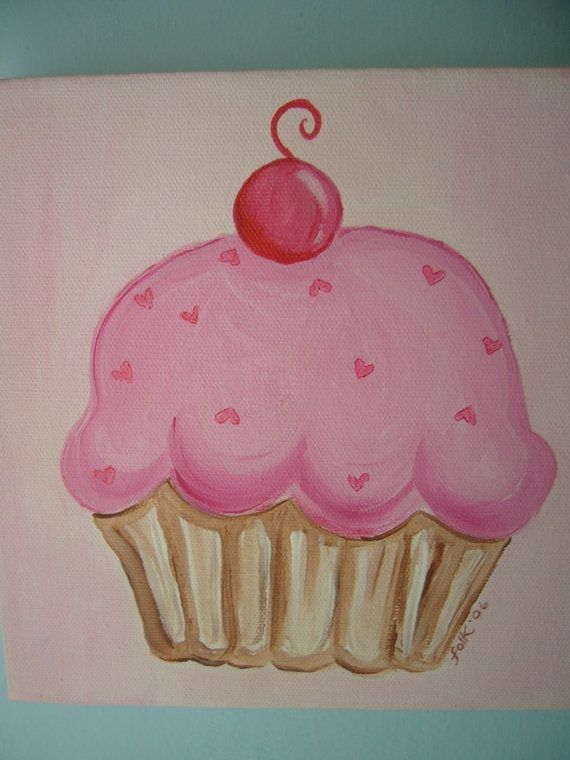 Cupcake Wall Art 53 best art images on pinterest | paintings, painting and drawings