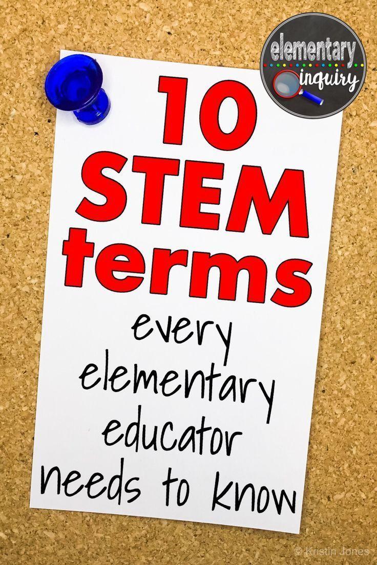 stem terms  elementary educators    engineering design process poster set