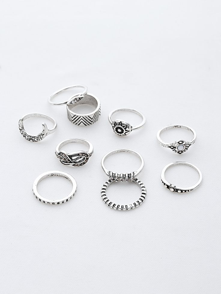 Shop Sun And Moon Etched Ring Pack online. SheIn offers Sun And Moon Etched Ring Pack & more to fit your fashionable needs.