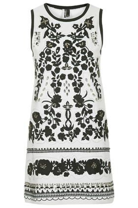 Embroidered Crystal Dress