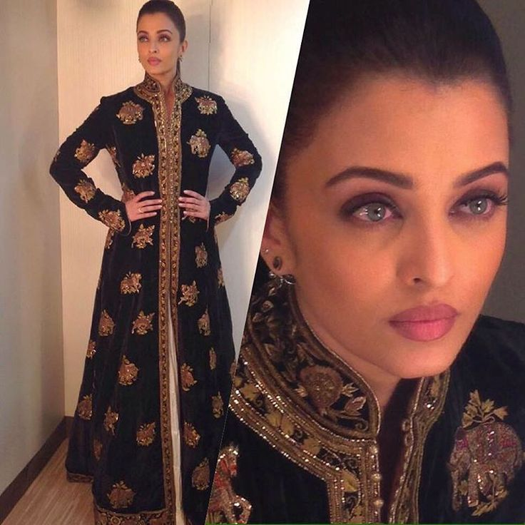 """Aishwarya Rai garbed in marvel from Husn-e-taairaat collection by Rohit Bal. #aishwaryaraibachchan #aishwaryarai #rohitbal #husnetaairaat #beautyofabird…"""