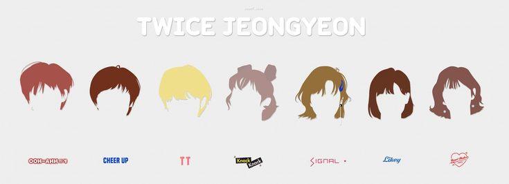 Jeongyeon's  hairstyle (Like OOH-AHH〜Heart Shaker)