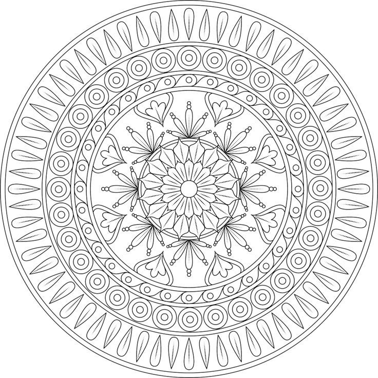 witch mandala coloring pages - photo#23
