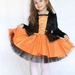 Kidstyle Costumatie Vrajitoare Portocalie Kidstyle. Costume de Halloween pentru copii, baieti si fetite.
