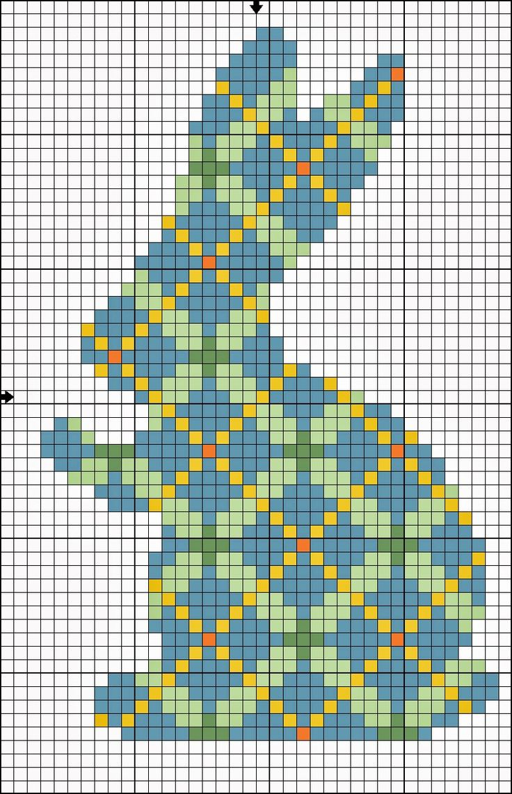 Kathrin's Blog: Happy Easter. Free plaid bunny Easter cross stitch pattern.