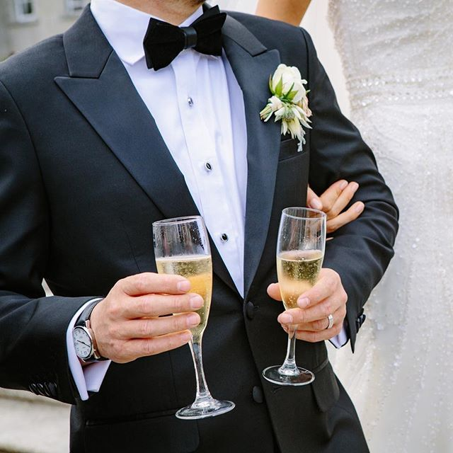 This is your day so throw some confetti, pop some chapagne and toast to your future together!  #weddingday #weddingreception #tux #tuxedo #blacktiewedding #blacktieformalwear #blacktietuxes #tuxes #tuxedos #suit #groom #groomfashion #champagne #winterwedding #christmaswedding #bride #theknot