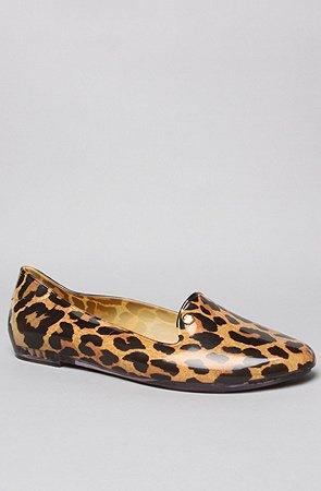 Melissa Shoes The Virtue Shoe in Orange Leopard