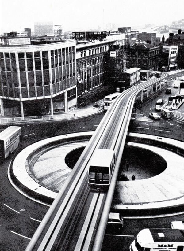 Sheffield monorail as envisioned in 1973 [and never built] #socialsheffield #sheffield