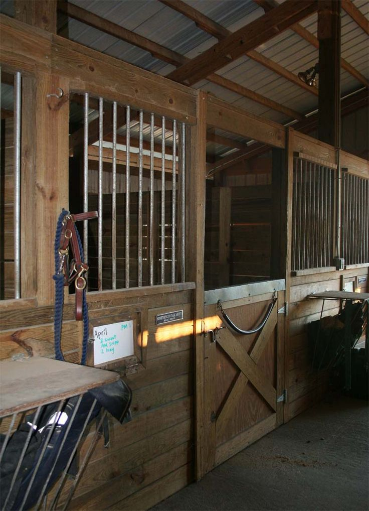 Beautiful stall fronts at this barn stable barn for 4 horse barn