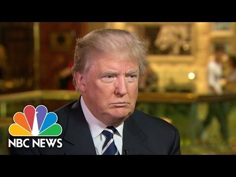 Anyone else thinking Mr. Trump might make a good President? Very interesting interview, must watch. Donald Trump: 'I Will Win The Latino Vote' (Full Interview) | NBC News