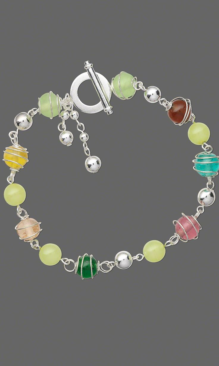 Bracelet with Wire Wrapped Glass Beads Gallery Of Designs - Fire Mountain Gems and Beads