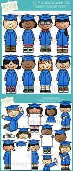 The Graduation Clip Art Bundle includes everything found in the Graduation Kids and Cap and Gown Kids clip art sets. This bundle contains a total of 42 image files, which includes 21 color images and 21 black & white images in png. All images are 300dpi for better scaling and printing.