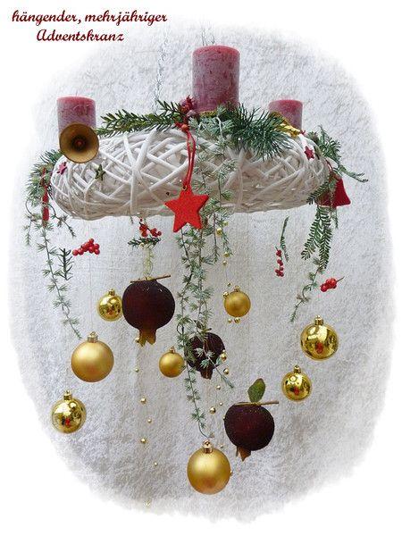 adventskranz h ngend rebenkranz wei mit 4 kerzen aufh ngen durchmesser und geschenkideen. Black Bedroom Furniture Sets. Home Design Ideas