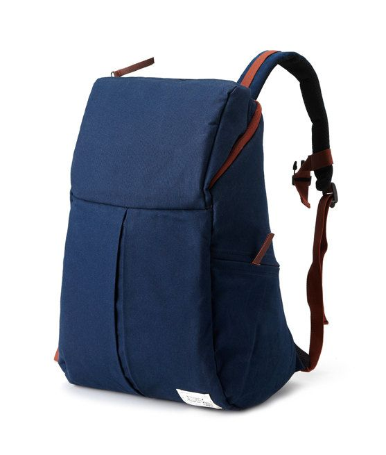 Trapezium Cotton Backpack Navy by BagDoRi on Etsy, $75.00