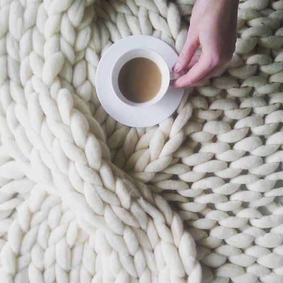 Ausverkauf Riesen Decke Hakeln Stricken Decke Chunky Super