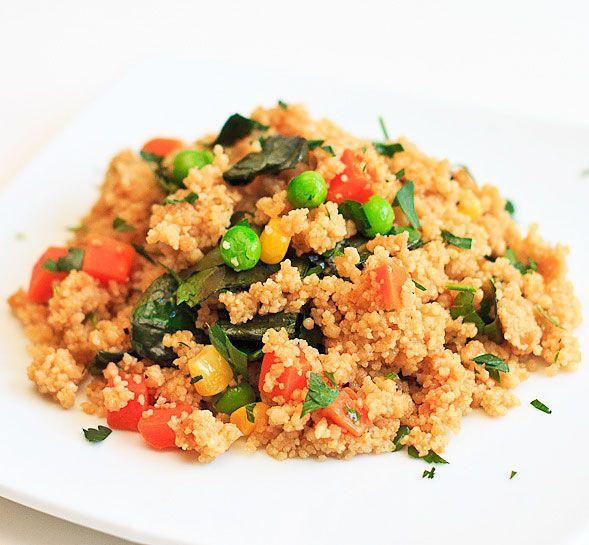 Crispy Whole Wheat Couscous Salad on http://www.wishfulchef.com