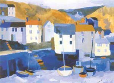 Winter Harbour Silkscreen Print by Richard Tuff