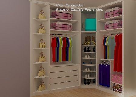 Closet com Sapateira Giratória - Marcenaria A. Fernandes