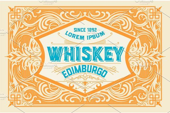 Old Packing Label by OneVectorStock on @creativemarket