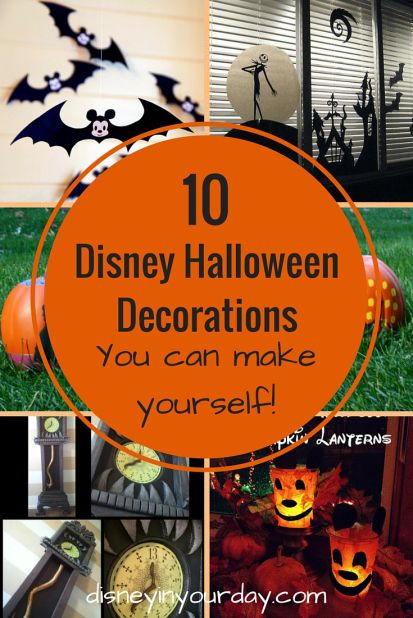 10 Disney Halloween Decorations you can make yourself!  Add some Disney fun to your Halloween with these great crafts that are a great mix of sweet and spooky.
