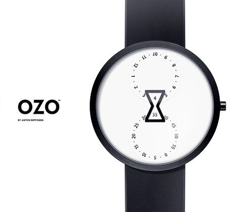 OZO watch: Anton Repponen, Giftidea Watches, Ozo Watches, Watches Design, Gifts Ideas, Hourglass Watches, Simple Design, Ozo Hourglass, Minimalist Timepiec