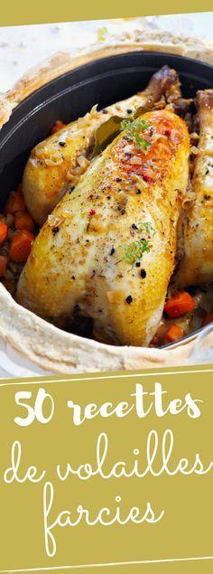 50 recettes de volailles farcies pour vos menus de fêtes – plat
