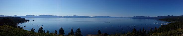 Panorama of Lake Tahoe from Rocky Ridge in Tahoe City