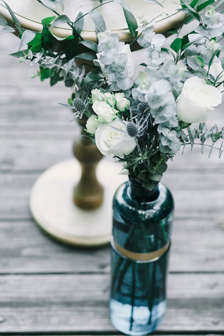 Moody blueish greens and the perfect pop of gold #Cedarwoodweddings Indigo Design Inspiration by Cedarwood Weddings | Cedarwood Weddings