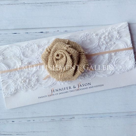 Burlap Flowers and Lace by Embellishment Gallery®