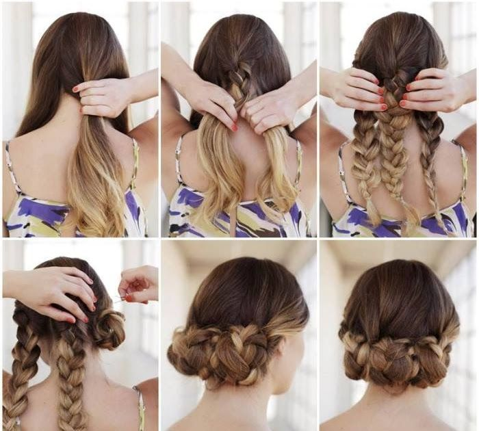 Bun Hairstyles For Your Wedding Day With Detailed Steps And 20 Gorgeous 5 Minute Hairstyles To Save You Some Sn Hair Styles Easy Braided Updo Long Hair Styles