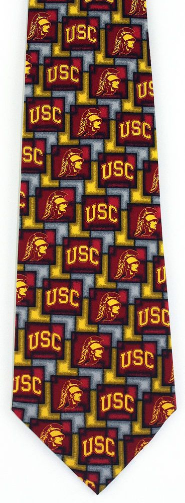 New University of Southern California Mens Necktie USC College Silk Neck Tie  #EaglesWings #NeckTie