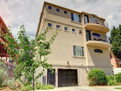 Denver metro area, vrbo rental house, central to eveything.  Front view of three level Townhouse