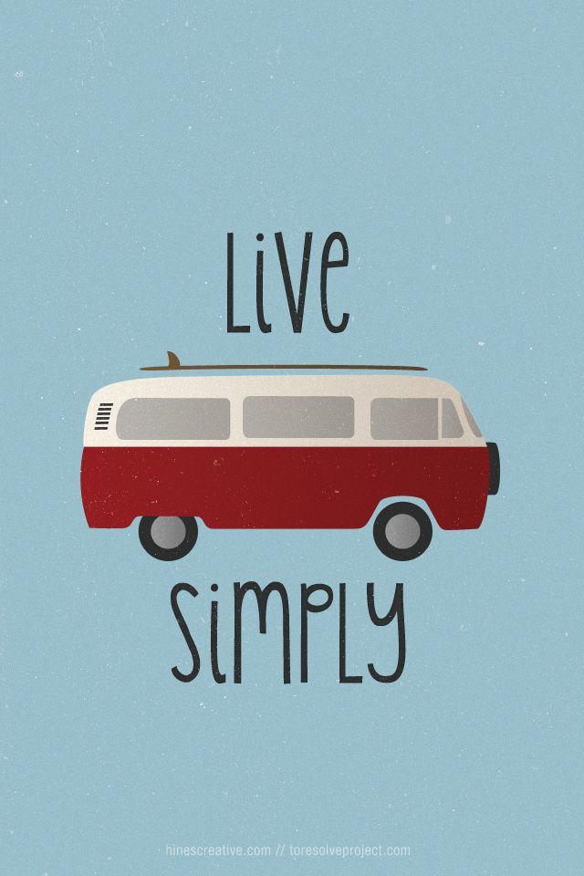 viver de uma forma simples
