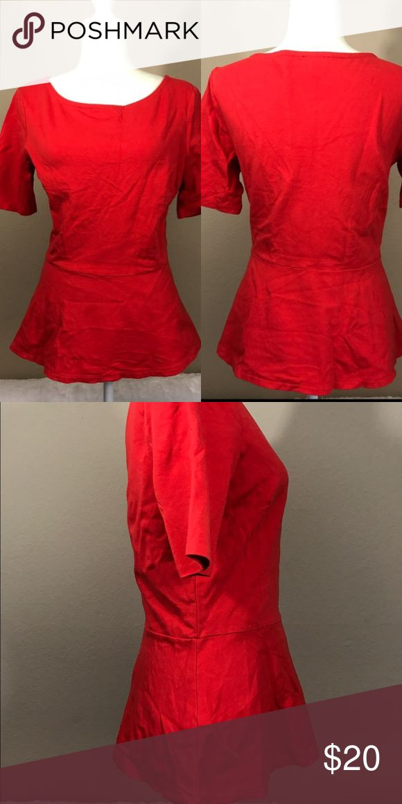 Talbots red peplum top Great condition Talbots Tops