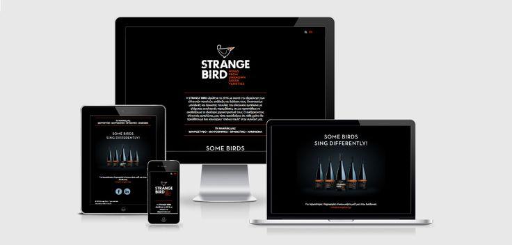 PAZLE Creative Single page web site www.strangebird.gr