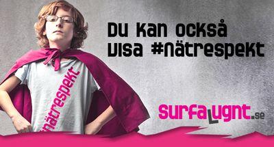 Surfa Lugnt på nätet, om vardagen på nätet, länkar och läromaterial.