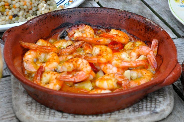 Gamba's al ajillo (garnalen in knoflook olie)
