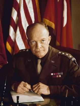Before he was president ~ General Dwight D. Eisenhower in his WWII uniform.
