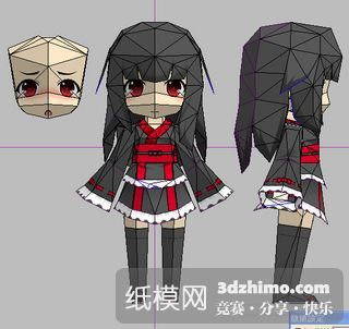 feature post image for Prototype 2 Chibi Girl Papercraft
