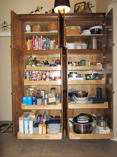 Love this idea for a pantry. Maybe just for my kitchen electrics like the rice cooker and stand mixer