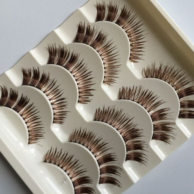 Brązowe Oczy Handmade Sztuczne Rzęsy Przejrzyste Wynika Electric Eye Natural Niechlujny Fałszywe Lashes Rzęsy Etap Makeup Tools