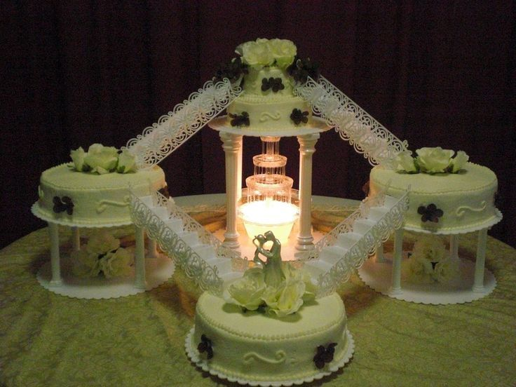 fountain wedding cake fountain staircase wedding cake cakes