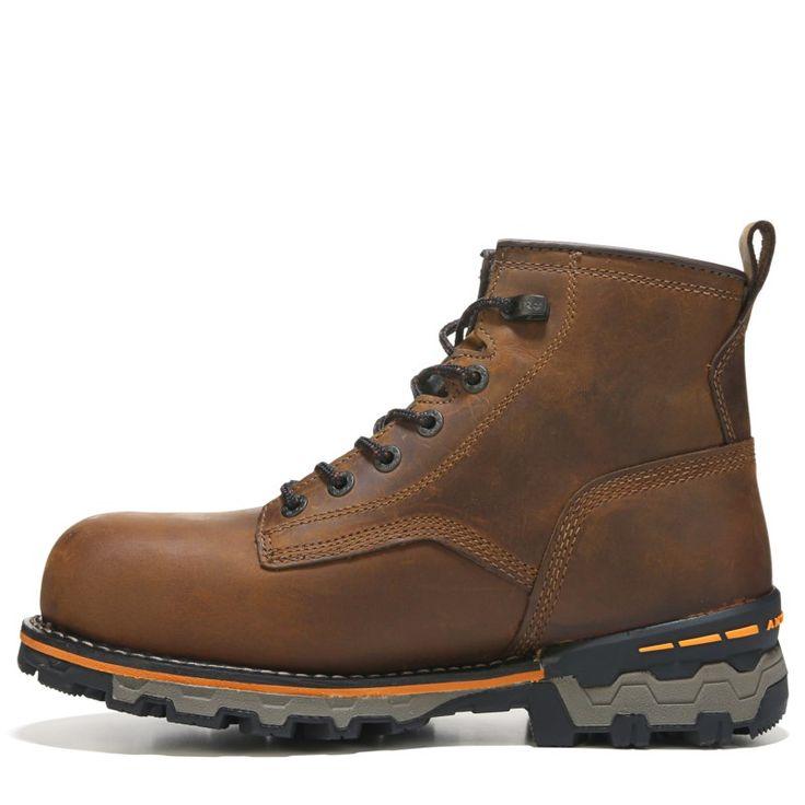 Timberland Pro Men's Boondock 6'' Medium/Wide Waterproof Composite Toe Boots (Brown Leather) - 7.0 W