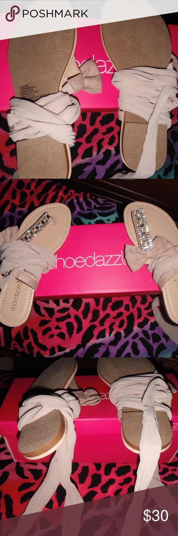 Shoe Dazzle ballet sandals I bought these on Shoe Dazzle website because I thought they were REALLY cute, but when i put them on myself, they just didnt look right. Not my style. :) NEVER worn..perfect condition. Shoe Dazzle Shoes Sandals