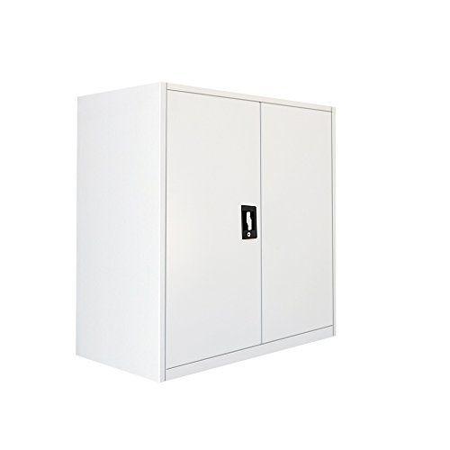 Britoniture Office Cupboard 2 Doors Metal Lockable Storage File Cabinet 90cm---105.99---