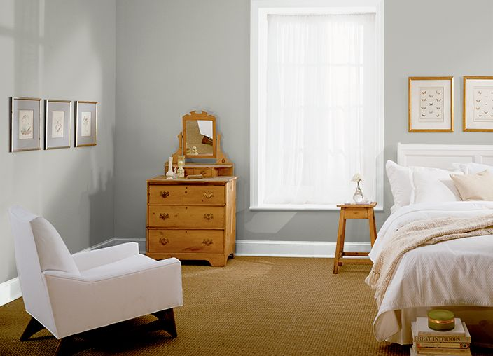 17 best images about guest bedroom on pinterest the for Behr paint silver bullet