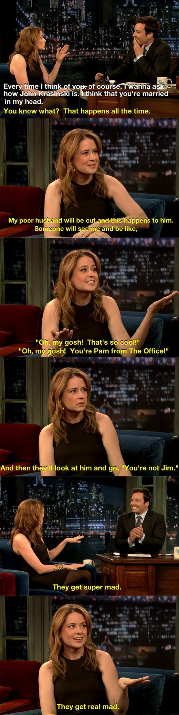 """It's Pam! Where's Jim?"""