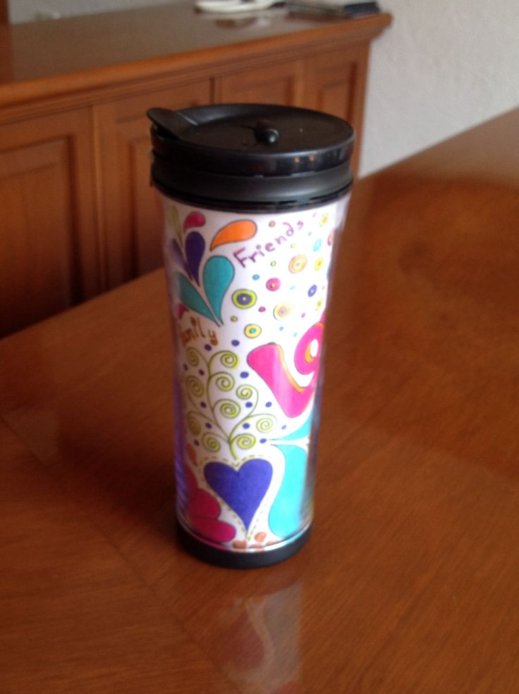 Hand painted Coffe thermo